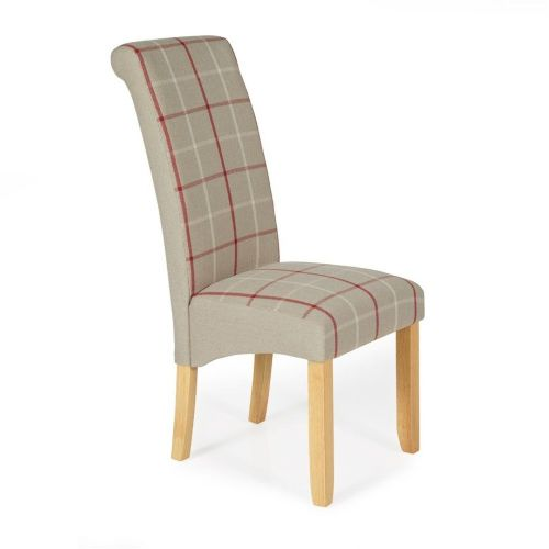 Dining Kingston Natural Tartan with Oak legs